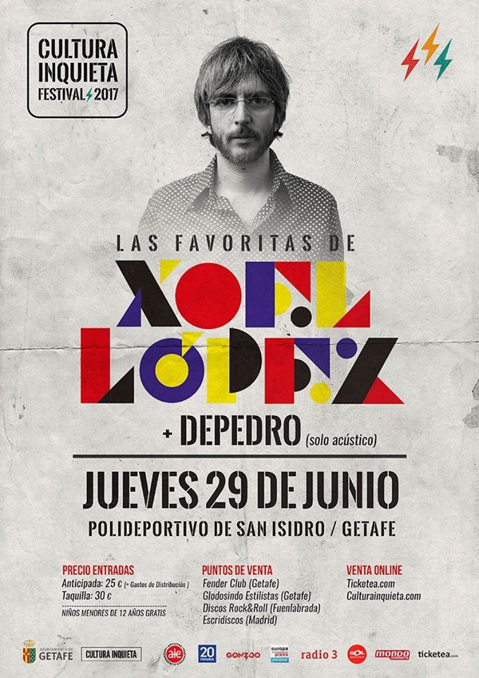 Regalamos 2 entradas dobles para ver a Xoel López en el festival Cultura Inquieta